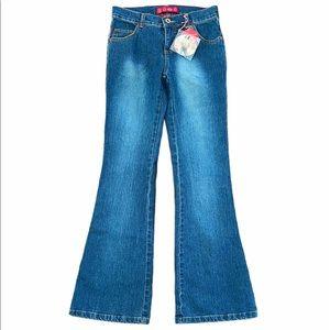 GLO Hip Hugger Flare Stretch Jeans Short Size